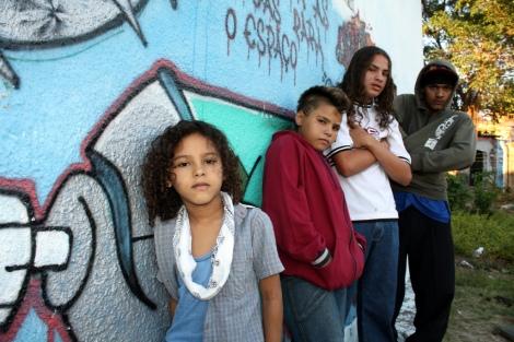 Na foto as oficina de RAP da Tapebas Posse da Força Hip Hop no Ceará. Foto: Cristiano magalhães.